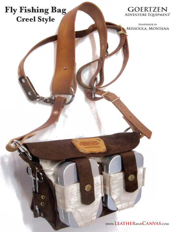 Fly fishing bag creel style for Fly fishing creel